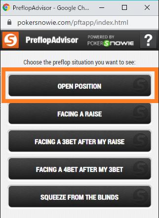 PreflopAdvisorメイン画面
